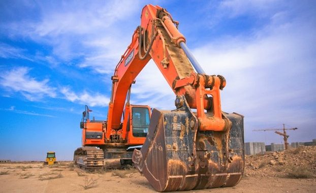 bulldozer orange btp